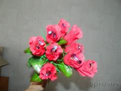 Artificial Rose Bouquets with Chocolates
