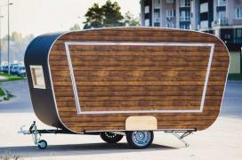Cheap vending trailer for fast food, Kupava
