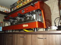 Professional Italian coffee makers, coffee grinders