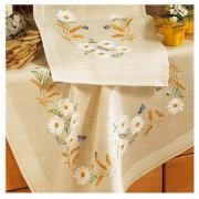 Table cloth, napkins, embroidery